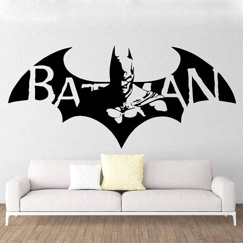Hero Batman Masque amovible Wall Stickers For Kids Enfants Autocollant Vinyle 40Pcs//Set