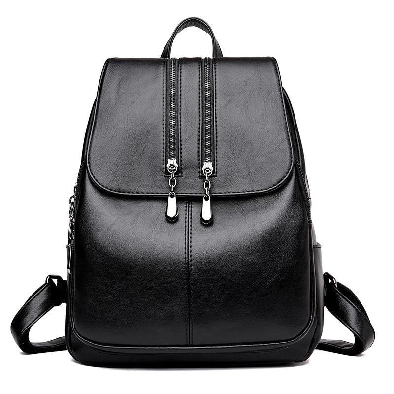 Brand New Laptop Backpack Women Leather Luxury Backpack Women Fashion Backpack Satchel School Bag Pu #5