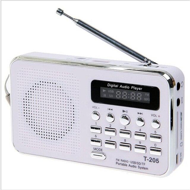 T-205 Portable handsfree HiFi Card Speaker Digital Multimedia Loudspeaker FM Radio