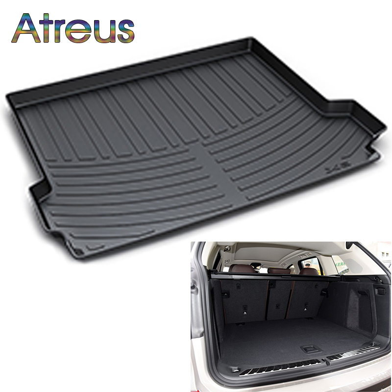 Atreus Car Rear Trunk Floor Mat Durable Carpet For BMW X3 F25 2011 2012 2013 2014 2015 2016 2017 2018 Boot Liner Tray mat for bmw x3 f25 stainless rear trunk lid molding cover trim 2011 2015 1pcs