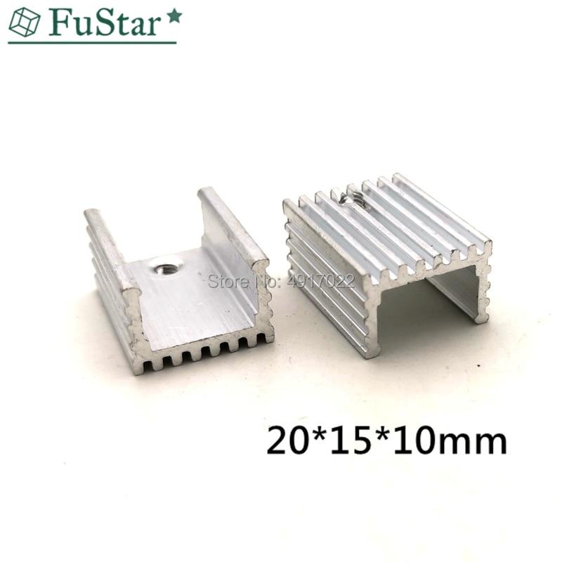10pcs 15*10*20 Heat Sink Transistor Radiator Aluminum Heatsink Cooler Cooling Fin Radiator Heat Sink For IC Chip LED 20*15*10 Mm