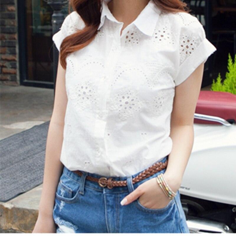Blusas 2015 de La Moda Dulce Bordado de La Flor de Las Mujeres Camisa de Lino de