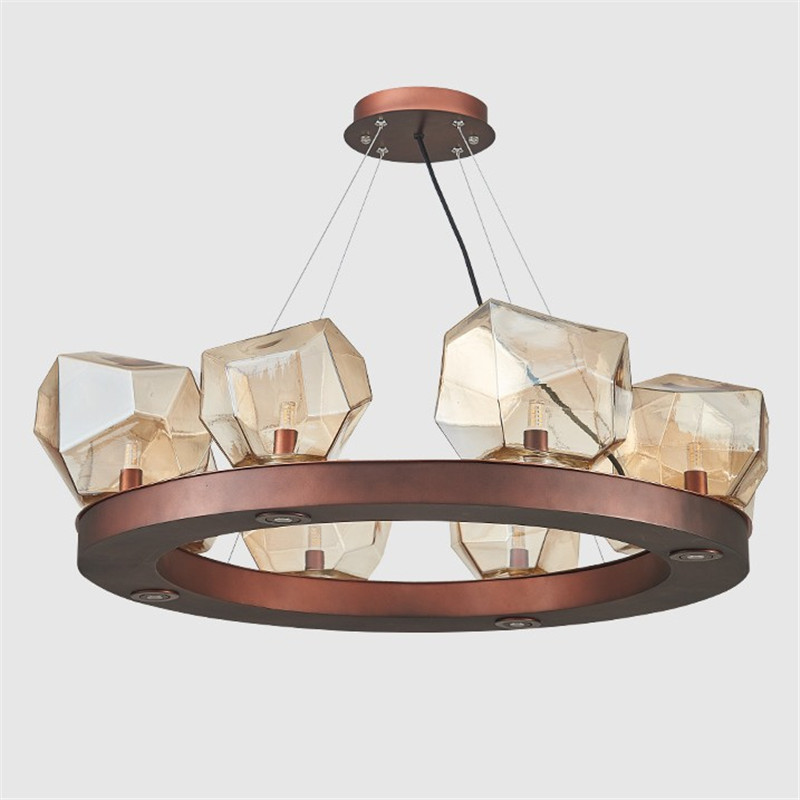 Vintage Loft Led Pendant Chandelier G9 led bulb inside glass ...