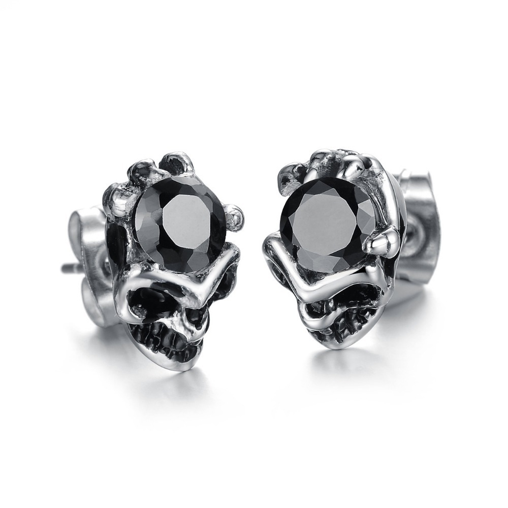 Stud Earring With 5mm Cubic Zircon