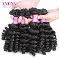 4 Pçs/lote Apertado Curly Virgem Cabelo, não processado virgem tecer cabelo humano fumi, aliexpress yvonne cabelo, 1b cor natural
