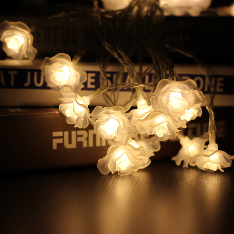 Love Rose LED String Lighting 10M 50leds nightlight 3 Colors Valentine Day Flower Party Wedding Christmas Fairy Decor