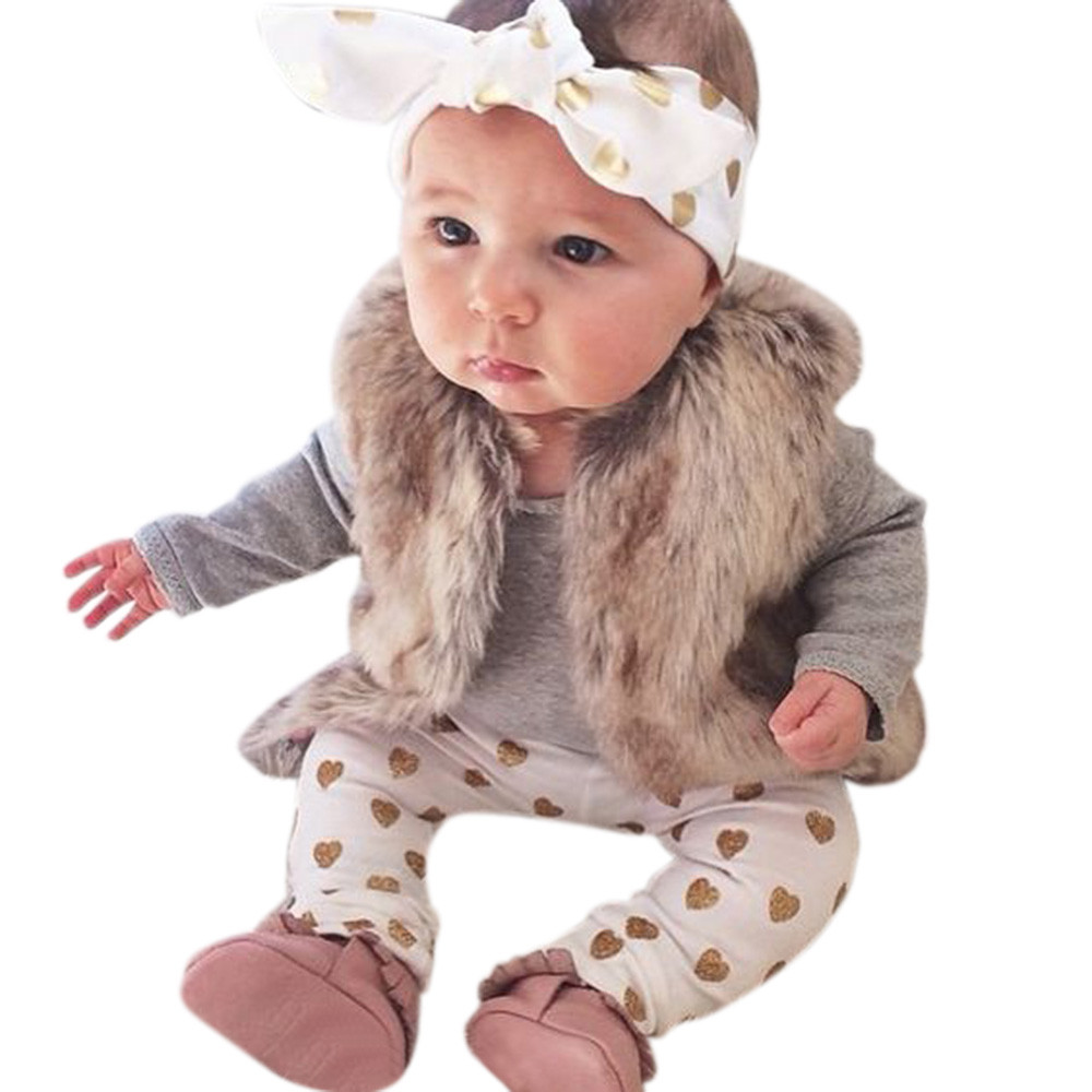 CHAMSGEND Baby Boy Girl Clothes Newborn Bear Tops Romper Pants 3PCS Outfits Sets Fashion Tops 2017 Oct1 Drop shipping
