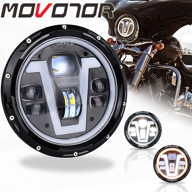 7 Inch LED Headlight 50W Round Led Spotlight for Harley Davidson Motorcycle Light For Honda CB400