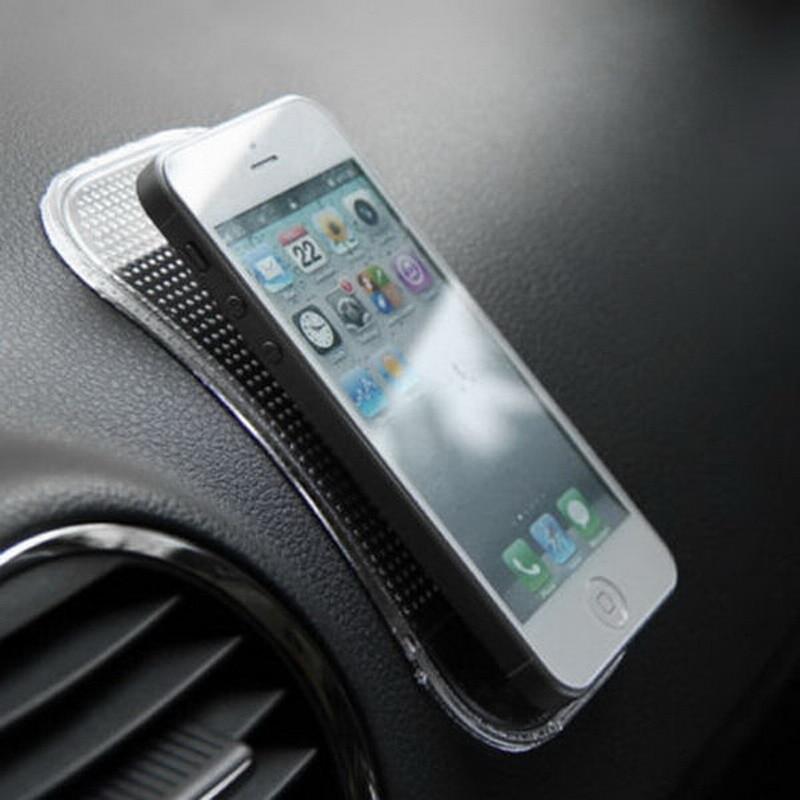 все цены на 1Pcs 14*8cm Nano Car Magic Anti-Slip Dashboard Sticky Pad Non-slip Mat GPS Phone Holder онлайн