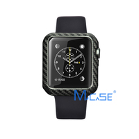 Mcase Luxury Ultra Thin Carbon Fiber for Apple Watch Series 1 2 3 Cover 42 mm 38 mm for iWatch Frame