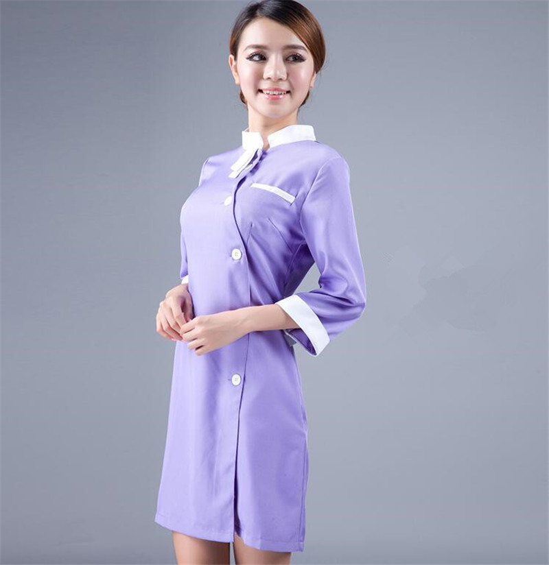 Online buy wholesale smocks for hairdressers from china for Spa uniform indonesia