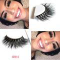 1 pair 3D Handmade Thick Mink Eyelashes Natural False Eyelashes for Beauty Makeup fake Eye Lashes Extension-D011