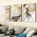 Chinese Painting Style 3pcs Large Picture Frames Home Office Wall Hanging Photo Frames Artistic Triplex Mural Frame moldura