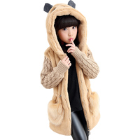 2017 Girls Winter Coat Faux Fur Jackets Girls Clothing Kids Clothes Thicken Children Outerwear Jacket Warm