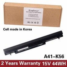 Korea Zelle KingSener Neue A41-K56 Batterie für ASUS K46 K46C K46CA K46CM K56 K56CA K56CM S46C S56C A32-K56 A42-K56 15 V 2950 mAh