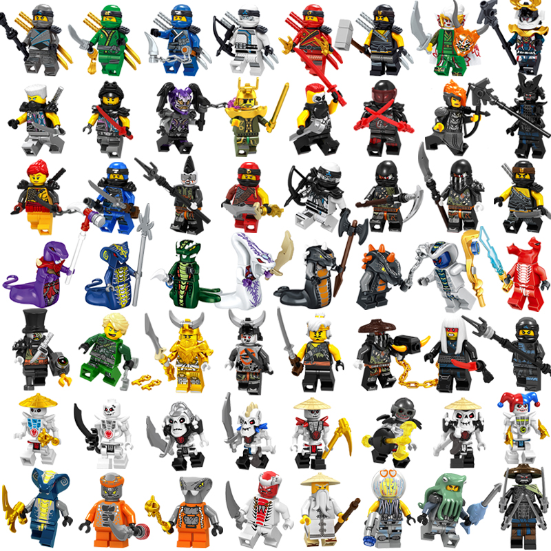 LegoING NinjagoING 2019 Movie Minifigured Sets Lloyd Garmadon Snake Pythor Weapons Building Blocks Educational Toys For Children