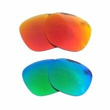 5c93e73c4c527 Naranja rojo espejo y verde espejo polarizado lentes de reemplazo para  Garage Rock marco 100% UVA y UVB