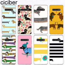 ciciber Dachshund dog Phone Case for Samsung Galaxy S10 S9 S8 Plus S10e S10+ Soft Silicone Cover for Samsung S7 S5 S6 Edge mini(China)