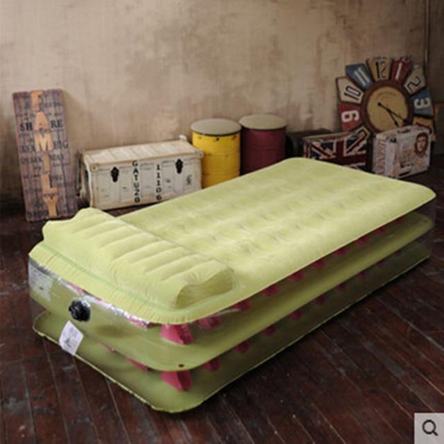 De dos pisos de columna de panal cama inflable espesada aire cama siesta bed dar bomba de aire eléctrica