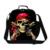 Crânio Saco Do Refrigerador Do Almoço Para As Crianças Piratas do Caribe Jack Sparrow Impressão Lunch Box Crianças Meninos Saco do Alimento Do Piquenique Viagem