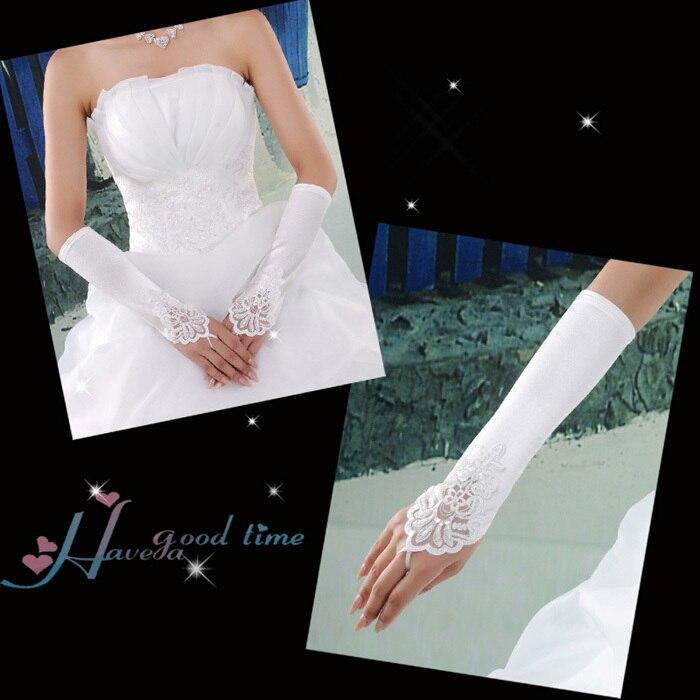 Wedding Dress Preservation Uv Protected: Yarn Wedding Bridal White Gloves Wedding Dress Accessories