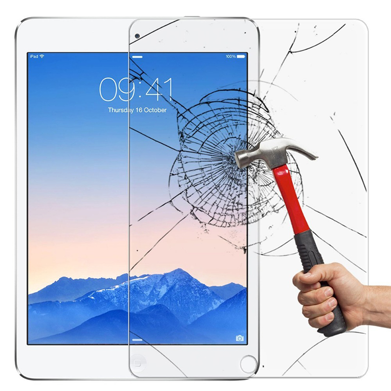 2pcs Full Screen Protector Tempered Glass For New iPad 2017 9.7 inch Screen Protective Film Cover Glass For iPad Pro 9.7 2017 original homtom ht3 pro package gift tempered glass film protective cover