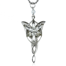 Cosplay Anime Fairy Princess Arwen Evenstar Silver Color Pendant Necklace