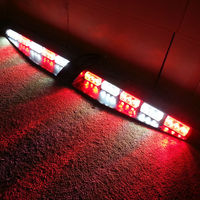 2x15 LED de 1 Vatios Rojo/Blanco Alternativo Baliza De Emergencia Barra de luz Cubierta Exclusiva Dividir Visor Dash Strobe luz de Advertencia de Peligro barra de luces