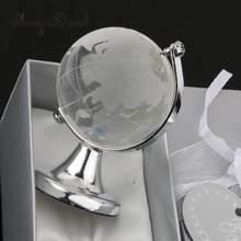 MagiDeal srebrny stojak kryształowy globus prezent ślubny Paperweight Vastu Feng shui kamień na szczęście