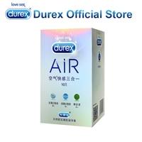 חבילת אוויר Durex קונדומים קונדומים דקים במיוחד מוצרי סקס קונדומים אינטימי גברים ארוטיים מין מוצרים למבוגרים שרוול פין עיכוב לטקס לגברים