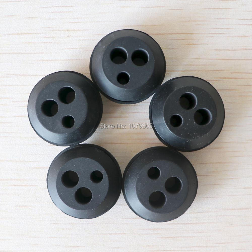 5Pcs Brush Cutter Grass Trimmer 3 Holes Rubber For Fuel Oil Pipe Hose Fuel Tank Pipe Replacement Parts Set