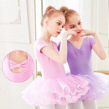 Girls Ballet Dance Dress Dance Costumes Tutu Skirts Gymnastics Swimsuit Kids Tulle Skirted Leotards
