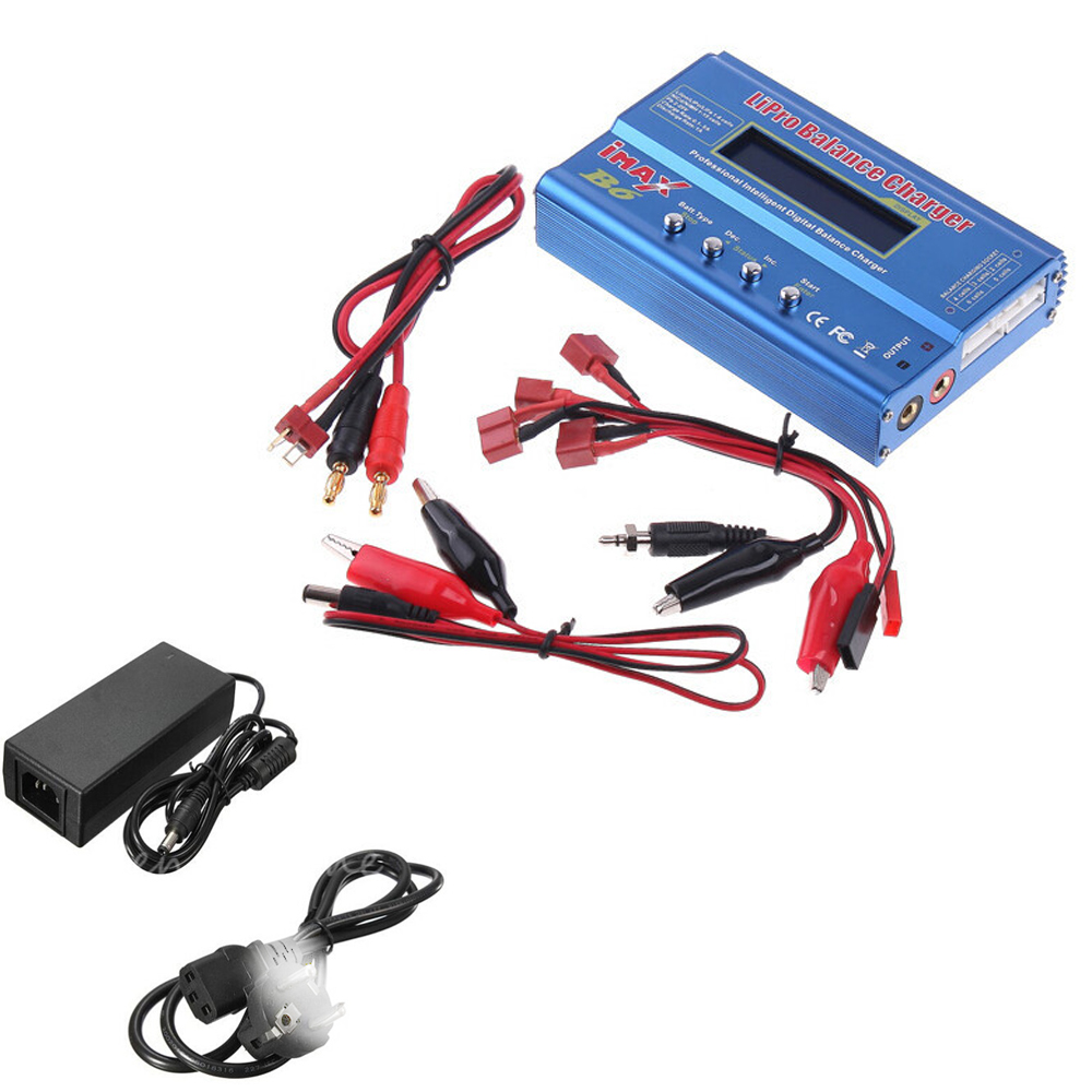 Register shipping 1 set IMAX B6 Digital RC Lipo NiMh Battery Balance Charger+AC POWER 12v 5A Adapter EU UK AU US plug