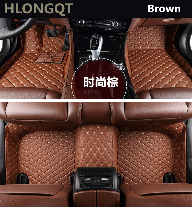 Auto Floor Mats For TOYOTA Corolla 2007-2013 Foot Carpets Car Step Mats High Quality Brand New Embroidery Leather Mats universal pu leather car seat covers for toyota corolla camry rav4 auris prius yalis avensis suv auto accessories car sticks