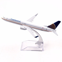 1:250 16cm Passenger Plane Boeing B737-800 N27213 Continental Airlines Alloy Airbus Juguetes Toy Airplane Model