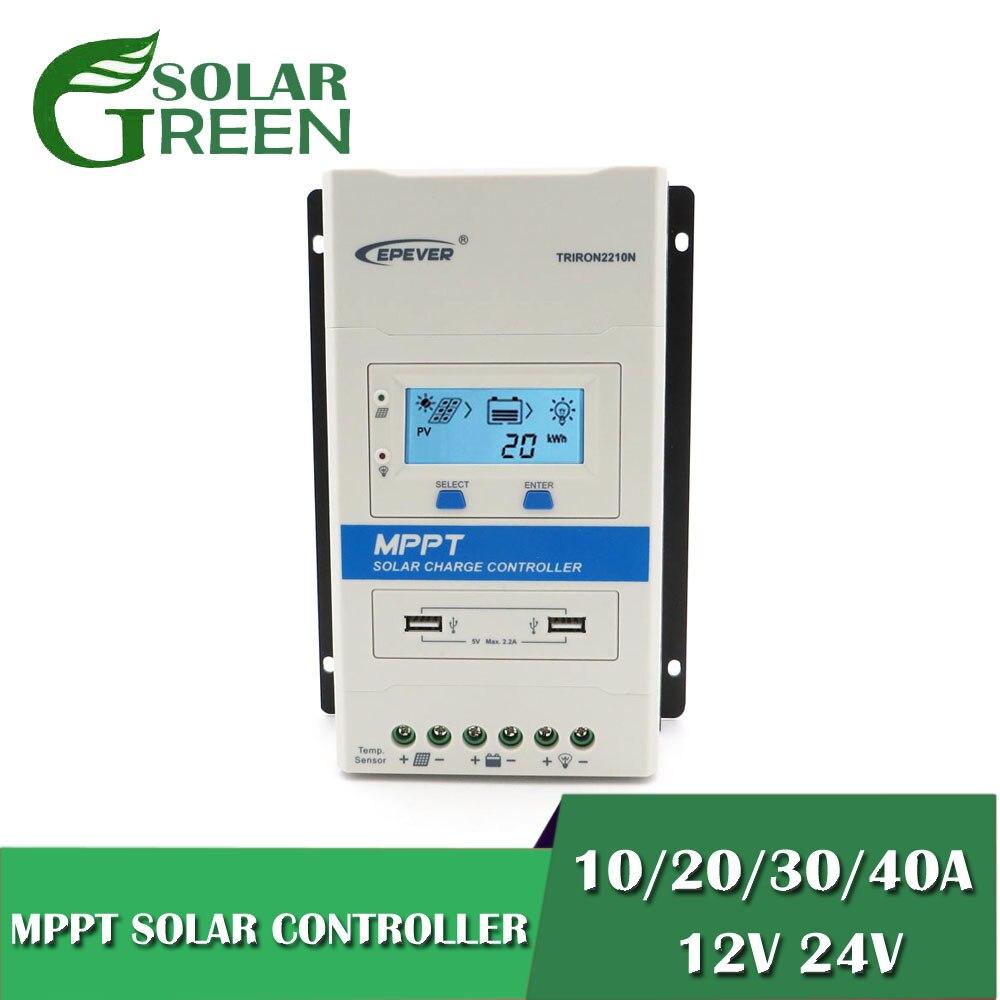Contrôleur de Charge et de décharge solaire modulaire MPPT 40A/30A/20A/10A 12V 24V DS1 et Module USB double 5V