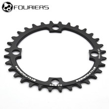 лучшая цена FOURIERS 104BCD 5 Color Round 30T 32T 34T 36T 38T 40T Cycling Chainring Narrow Wide MTB Bike Chainwheel Circle Crankset Plate