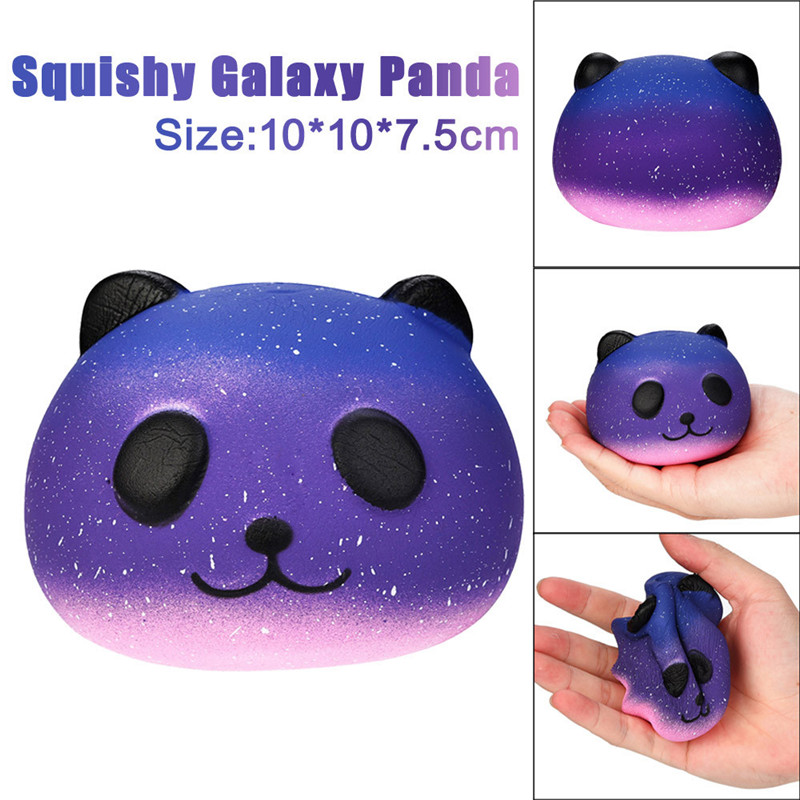 Sozzy Antistress Elastic Environmentally PU Galaxy Cute 10cm Panda Baby Cream Scented Squishy Slow Rising Squeeze Kids Toy T#