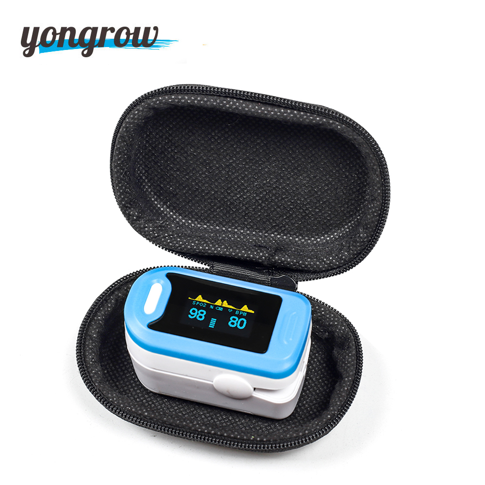 Yongrow Medical Fingertip Pulse Oximeter SPO2 PR Memter Oxygen Saturation SPO2 Oximetro De Dedo Pulsioximetro Oxymeter Finger футболка однотонная с круглым вырезом