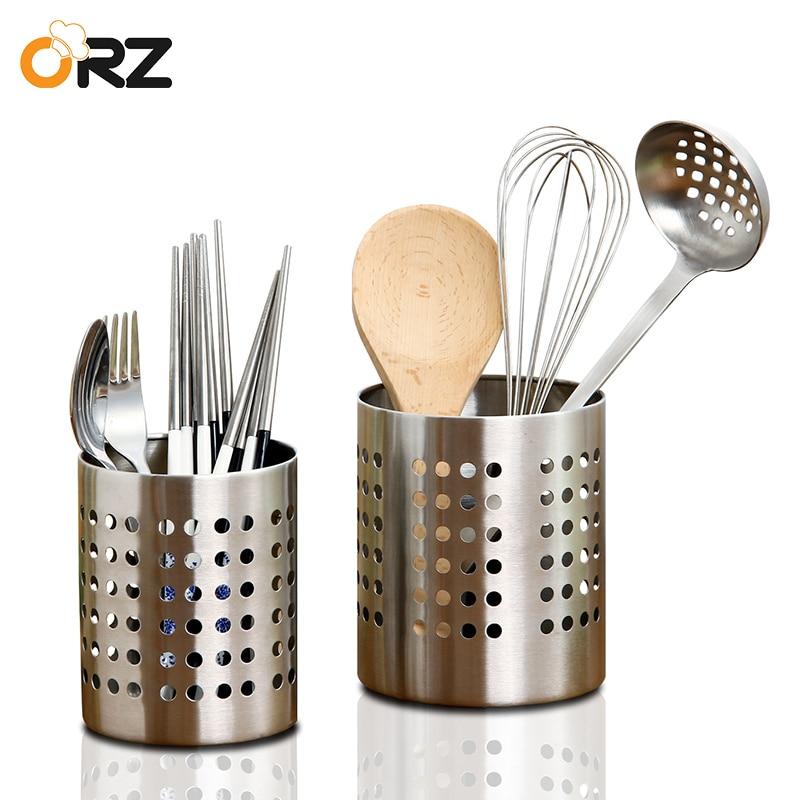 Detalle Comentarios Preguntas sobre ORZ cocina cubertería soporte palillos  jaula cucharas tenedor cuchillo almacenamiento caja cocina escurridor  organizador ... 91bf96fe825d