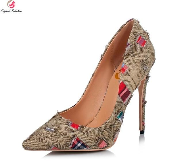 eee88ea6f184 Ursprüngliche Absicht 2017 Sexy Frauen Pumpt Elegante Spitz Dünne High Heels  Schöne Schuhe Frau Plus Us