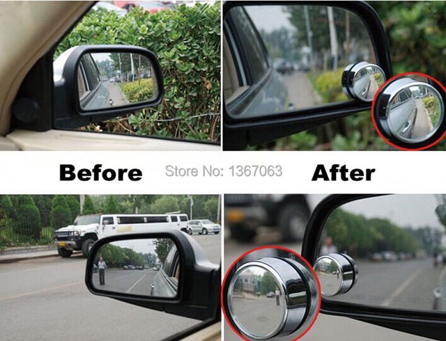 10 Pairs/lot Car Rearview Wide Angle Mirror Convex Blind