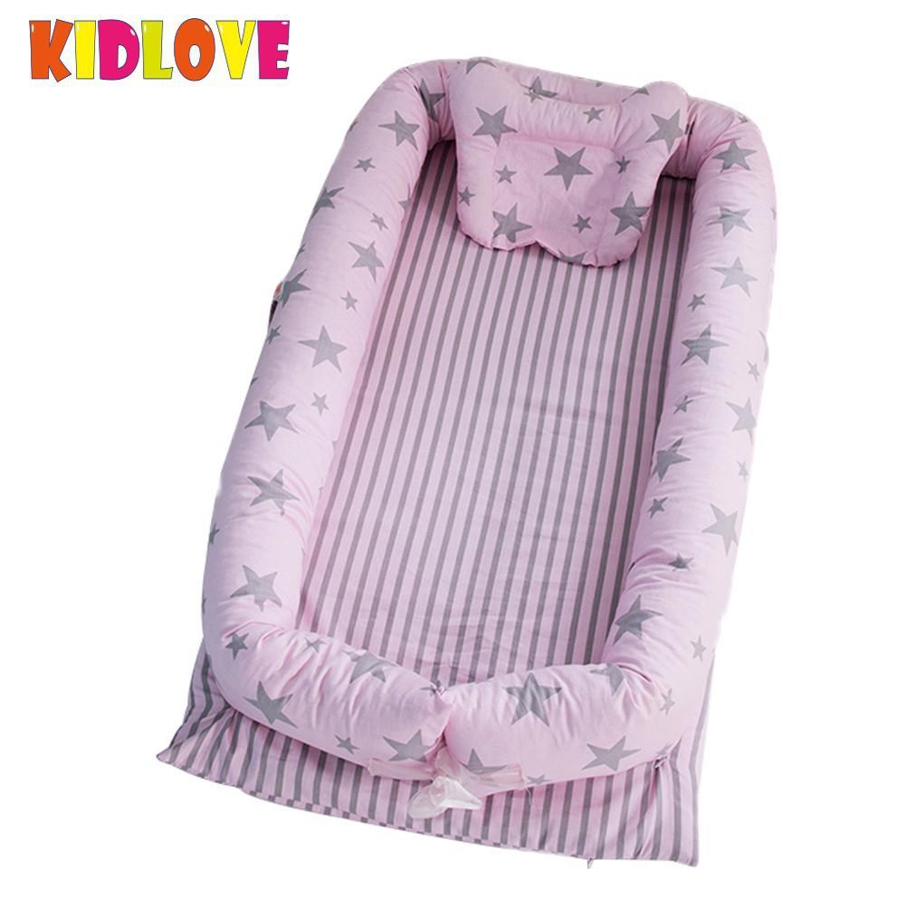 Kidlove Baby Cushion Bed Set Detachable Washable Cribs Pretty Detachable Simulating Sleep Nest Baby Portable Travelling san0 цены онлайн