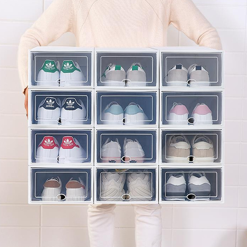 Boxe Shoes-Box Drawer-Storage Multi-Purpose Foldable Transparent Environmental Creative