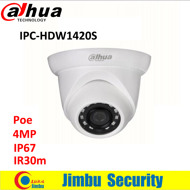 Original DAHUA 4MP IP Dome camera IPC-HDW1420S Network IR 30M CCTV security POE camera DWDR 1080P indoor IP mini camera full HD