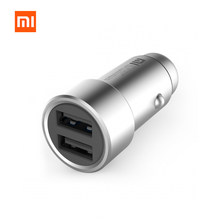 Original Xiaomi Mi Car Charger Dual USB 5V/3.6A Quick Charge Metal Apply to Android IOS System Mobile Phones CZCDQ01ZM(China)