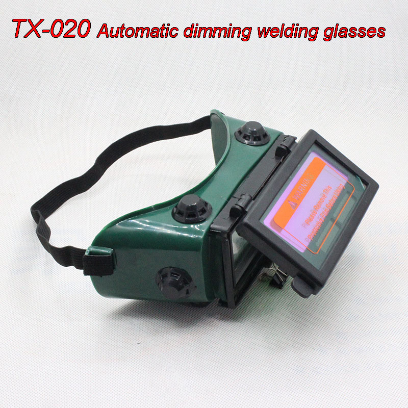 TX-020 Automatic Dimming Welding Glasses Clamshell Solar Energy Glare Goggles Welding Gas Cutting Safety Glasses