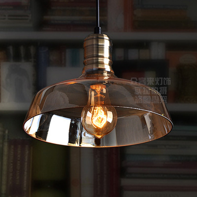 American Retro Vintage Pendant Lights Clear Glass Lampshade Loft Pendant Lamps E27  for Dinning Room Home Decoration LightingAmerican Retro Vintage Pendant Lights Clear Glass Lampshade Loft Pendant Lamps E27  for Dinning Room Home Decoration Lighting
