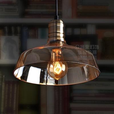 цена на American Retro Vintage Pendant Lights Clear Glass Lampshade Loft Pendant Lamps E27 for Dinning Room Home Decoration Lighting
