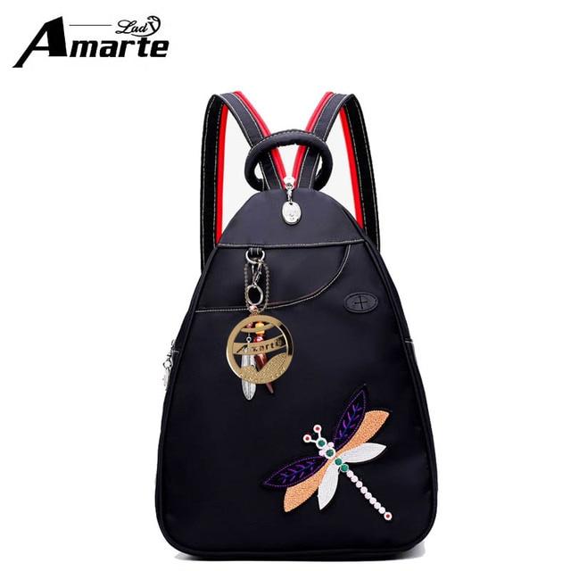 d6e2627d7d Amarte Women Backpacks 2018 New Fashion Women Big Capacity Waterproof Nylon Backpacks  Fashion Causal Girls School Backpacks